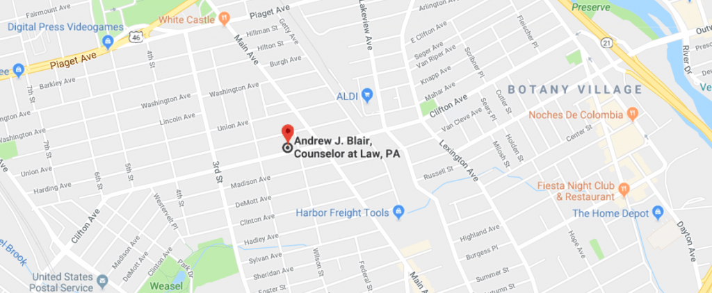 Directions to Law Office of Andrew J. Blair